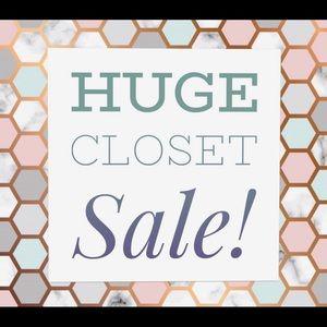 Huge closet sale!!!!!